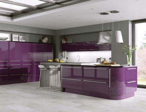 Aubergine Gloss Kitchen