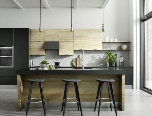 Brentford Iconic Beech and Quadra Black Kitchen