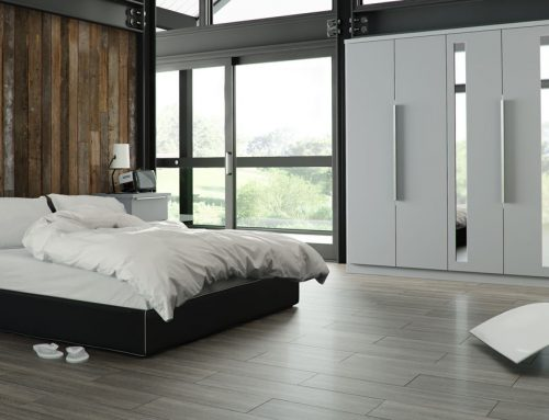 Galaxy Light Grey Bedroom