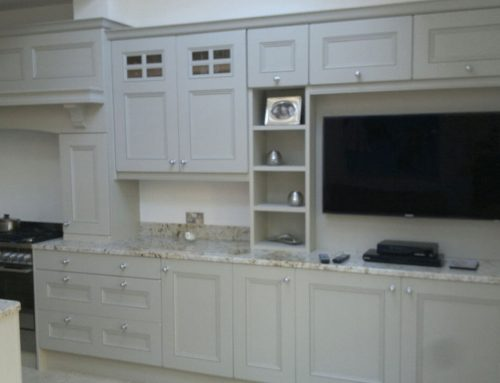 Solid Ash Painted Stone Kitchen